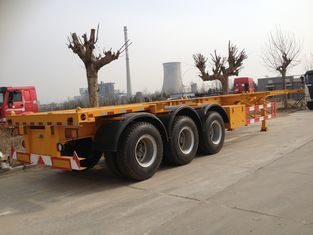 China 2 / 3 Axles Skeleton Container Semi Trailer Trucks , container transport supplier