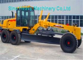 China 7000kg Payload SHMC GR215 Motor Grader for Road Construction , Yellow , White supplier