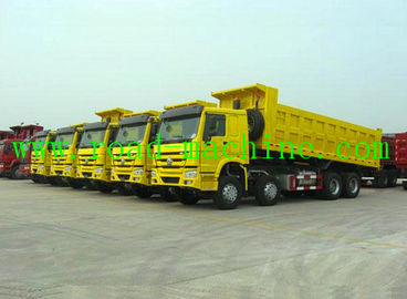 China SINOTRUK Construction Transport Dumper Lorry , Drive Model 8X4 supplier
