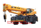China Rough Telescopic Boom Crane Vehicle Crane All Terrain 25T / 25000KG, RT25, RT35, RT50 factory