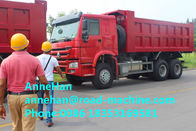 336hp Euro II 16M3 SINOTRUK HOWO Heavy Duty Dump Truck 6x4 With 1 Spare Tire