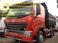 40T HOWO A7 Dump Truck With 1 Sleeper 6x4 20m3 Bucket Capacity Sinotruk Middle Lifting