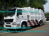 White Sinotruck  Howo  4 x 2 8L 8-12m3 White Color Compacted Garbage truck