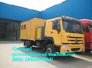 China HOWO 4 x 2 Light Duty Commercial Trucks Mobile Workshop Truck company