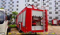China 4 x 2 6m3 Sinotruk Howo Fire Fighting Truck Water Tank With Foam Tan Fire and Water cannons, ladder factory