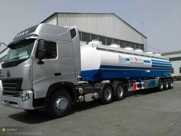 30m3 water tank semi trailer, 3 axles, loading 30t, 3-4 departments, can equip with a pump, carbon steel