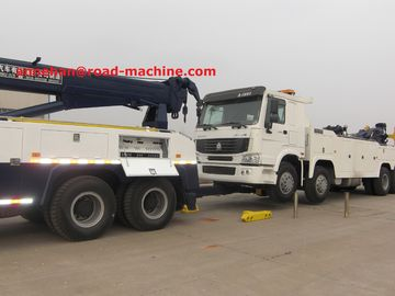 China SINOTRUK HOWO7 10 Tires 50T Road Wrecker Tow Truck / Recovery Truck / 6x4 Tow Truck EuroII 371hp distributor