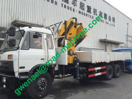 China 10 ton Truck Mounted Crane Telescopic Boom with Sinotruk HOWO Chassis distributor