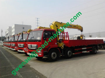 China 12 Ton Truck Mounted Crane Telescopic Boom Crane with Sinotruk HOWO A7 Chassis distributor
