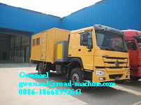 China HOWO 4 x 2 Light Duty Commercial Trucks Mobile Workshop Truck distributor
